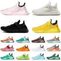 adidas Modedesigner Turnschuhe Pharrell Williams NMD Human Race Laufschuhe für Männer Frauen Nerd-Schwarz Blank Canvas Gelb Kinder BBC Trainer Männer