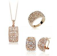 Ausrtran Crystal ketting oorbellen sieraden sets voor vrouwen gemaakt met Swarovski elementen bruiloft sieraden set PS1350