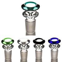 Haken 14mm 18mm Farbe Mix Bong Bowl Männliches Stück Für Wasserleitung DAB RIG GLAS Rauchen
