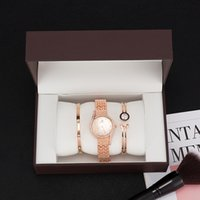 Uhrenbox Zonmfei Luxus Geschenk Set Damen 3-teilige Modequarz