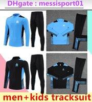 2021 2022 Marsilya Yetişkin Eşofman Erkekler Futbol Eğitimi Takım Elbise 21 22 Survetement Erkek Futbol Maillots Ayak Kehaneti Set