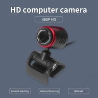 Webcams USB Webcam 480P HD Clip-on Computer Web Camera Laptop Desktop Video Calling Youtube Recording With Built-in Microphone