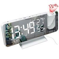 Другие часы Аксессуары MROSAA LED Digital Alarm Clock Часы Стол Электронный настольный USB Wake Up FM Radio Time Projector Snooze Функция