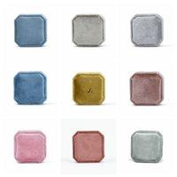 Mücevher Kutusu Kadife Yüzük Durumda Sekizgen Seyahat Taşınabilir Yüzük Saklama Kutuları Logo Özelleştirme 36 Renkler DWD6257