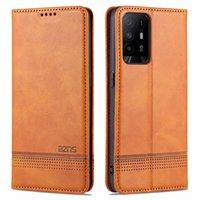 Aristokratische Handyhäuser Original Bunte Brieftasche Flip Cover Nette ultradünne dünne dünne Luxus-PU-Leder-Etui für Oppo A95 5G