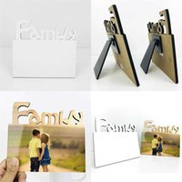 Woodiness Sublimation Blank Frames Mdf Diy Three Dimensional Hollowing Out Slate Letter Shape Laser Cutting Home Accessory Rrd4754