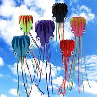 550cm Octopus Einzelne Linie Stunt-Software Power 3D-Drachen mit fliegenden Werkzeugen aufblasbar und leicht zu fliegen Ordnung Mix Farbe Großhandel 1903 y2