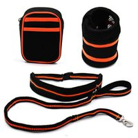 Hands Free Hipster Dog Leash Pouch Waist Bags For Small Pets Running Lead Rope Jogging Collars & Leashes
