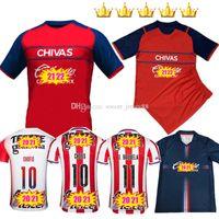 2021-22 Guadalajara de Chivas Camisas de futebol Thrid 2021 2022 México 20 21 22 O.Pineda A.Pulido C.Fierro E.Lopez 3ª Camisa Vermelha Camiseta Jersey