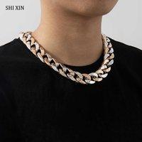 Shixin acrylique Chunky Court Courker Colar Collier pour femme / hommes Egirl Déclaration Collier HiPhop Chian au cou Collier Femme 2020 Y0528