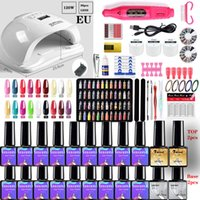 Nail Manicure Kit For Nail lamp Dryer Gel select 20 18  10 color Nail Polish Set & Electric Drill Art Tools