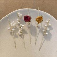 Needle Crawler Hook Earrings for Women Surround Ear Stud Alloy Pearl Piercing Earring Fashion Accessories