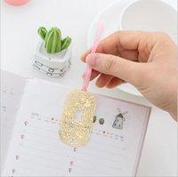 Metall Lesezeichen Kid Label Cool Gadget Cherry Blossom Form Series Aushöhlen Multi-Styles erhältlich mit Papier + OPP Retail Bag LLF9078