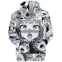 Anime Hoodie Ahegao Kawaii Hentai 3D Hooded Sweater Men Women Random Hoodies Clothing