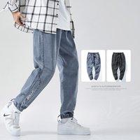 2021 Hommes Noir Casual Cargo Pantalon Style Japonais Mode Lâche Jeu de Jambes droite Taille Big Taille M-8XL Taille élastique Pantalons de cargaison