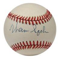 وقع Warren Spahn توقيع توقيع السيارات التلقائي في الباب الرياضة مجموعة البيسبول الكرة
