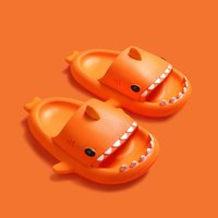 China Marke Orange Stereo Shark Eva Kalttrakt Kinder Hausschuhe Sommer Home Startseite Kleinkind Elternkind Slip Weiches Baby