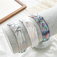 Hair Accessories Arrival Retro Bright Leather Cross-Knotted Headband Style Women Simple Wide Fixer Accessory