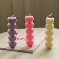 Herramientas artesanales Molde de amor lindo DIY Vela de silicona Molud Material hecho a mano Torta Barra de chocolate Moldes de hielo