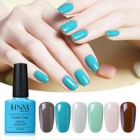 Nail Art Kits HNM Turquesa Soft Clássico Gel Clássico Verniz 7.3ml 6pcs Kit Polonês Aproxime o Primer UV LED Brilhante