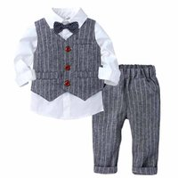 Boys Suit for Weddings Kids Prom Party Tuxedo Formal Blazer Pants Childrens Wedding party Performance Costume school uniform