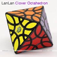 마법의 큐브 퍼즐 Lanlan 큐브 클로버 팔레 다른 큐브 Cloverleaf 구조 8 8 얼굴 표면 퍼즐 교육 트위스트 장난감