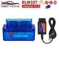 Czytniki kodu Skanowanie Narzędzia Akcesoria samochodowe OBD2 ELM327 V1.5 V2.1 Super Mini Bluetooth USB Wireless Elm 327 Wielojęzyczny działa na Androida / PC