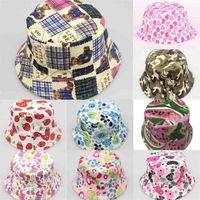 Fisherman top chapéu crianças flores desenhos animados lazer bacia verão crianças tampão capa meninas acessórios beanie beanice cowboy chapéus atacado g49t0tr