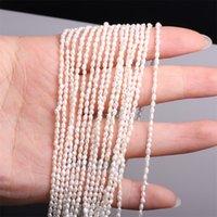 Natürliche Süßwasserperle Perlen hochwertige Reisform Punch Lose Perlen Für Schmuck DIY Armband Halskette Zubehör 850 T2