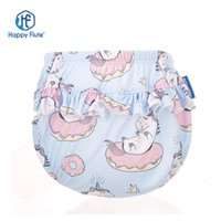 3 tailles 6-25kg Kids Dentelle Nappy Baby Girl Pantalon Soft Pantalon Pantalon Flower Imprimé Couche