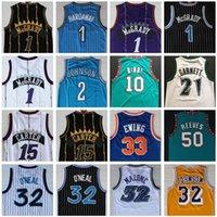 Ретро Баскетбол Джерси Картер Макградий Penny Hakeem Stockton 32 Karl Malone 33 Hill Ason West Allen 3 Iverson Mike Bibby Kevin Garnett старинные майки