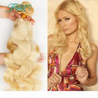 "Future Time Beauty Hair Products Blonde Brazilian Hair Bundles Body Wave 3Pcs Lots 8A Human Hair Extension Weave 10""-30"" Color #61"