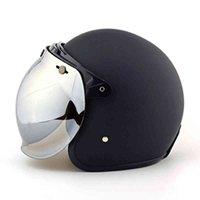 Мотоциклетный шлем Shield Vintage Sunvisor Pilot Retro Jet Scooter Moto Clemets и Bubble Jesor