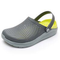 Sandalen Mens Quaoar 2021 Männer Literid Loch Schuhe Gummi Clogs für Männer Eva Unisex Gartenschuhe schwarz Adulto Cholas Hombre