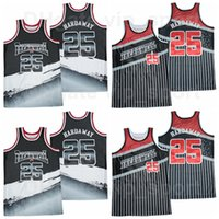 النسور الثانوية النسور كرة السلة # 25 بيني hardaway treadwell جيرسي الرجال مخيط والخياطة تنفس الرياضة الأسود فريق اللون أعلى جودة للبيع