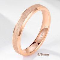 Тиграда вольфрама из карбида вольфрама розовое золото матовое кольцо 4 мм 6 мм для женщин мужчин свадебный участок взаимодействия матовый матовый женский анилью мохеров