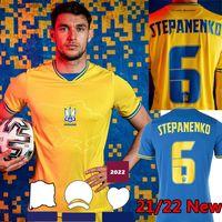2021 2022 أوكرانيا لكرة القدم الفانيلة رومانيا 21 22 Vitaliy Mykolenko Oleksandr Zinchenko Ruslan Malinovskyi فيكتور Tsygankov فريق كرة القدم