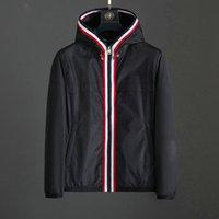 20SS Men S Vêtements Mode Designer Vestes à manches longues Spring Automne Luxe Luxe Black Capuchon Capuche Épaisses Couches Adapté à Clothe