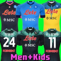 20 21 22 Napoli Marcelo X Burlon Futbol Formaları Dördüncü Tribute Diego Maradona Camiseta Insigne Mertens H.Lozano 2021 2022 Tayland Napoli Futbol Gömlek Kitleri