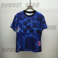 Tasarımcılar Erkek Kamuflaj T Shirt Adam Paris Moda Mektup Baskı T-shirt En Kaliteli Tees Sokak Kısa Kollu Lüks Tişörtleri Bayan Giyim