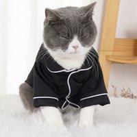 الحيوانات الأليفة الكلب لوازم الملابس ارتداء الصيف رقيقة منامة البريطانية قصيرة الأزرق القط puppet صيام السنة sh