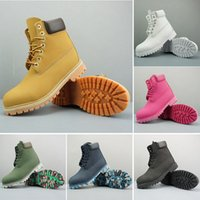 Moda Donna Stivali Designer Designer Caviglia Stivali invernali Scarpe da trekking Triple Black Yellow Blue Pink Camo Sneakers all'aperto
