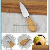 Kitchen Tools Kitchen, Dining Bar Home & Garden100Pcs Stainless Steel Cutlery Spata Wood Butter Knife Cheese Dessert Jam Spreader Breakfast