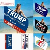 150 * 75cm Quick Seco Febric Bath Towing Toalhas Presidente Trump Toalheiro US Flag Imprimindo Coberturas de Areia para Duche de Viagem Natação