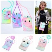 Kids Unicorn Coin Purse Wallet Children Cartoon Messenger Bag Girls Single Shoulder Plush Bags Party Favor RRA3373 T0PN JQ2E