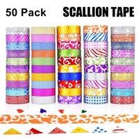 Gift Wrap 50pcs Glitter Washi Tape Set Masking For Scrapbook Planner Arts Crafts Decorative Adhesive DIY Diamond Painting Tools