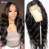 Front Human Hair S Body Wave für Schwarze Frauen 13x4 Frontal Brasilianische Webart Closure 4x4 Spitze Perücke
