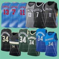 7 Kevin 11 Kyrie 34 Giannis Irving AntetokounMpo Durant 13 Härten NCAA Männer Basketball-Trikots 2022 Neu genähtes Jersey Z27