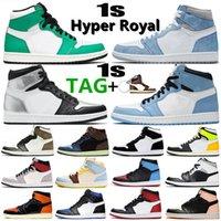 Jumpman 1 1s Hyper Royal Shadow 2.0 basketball shoes Lucky Green Silver Toe twist obsidian Dark Mocha UNC Women mens trainers Sports Sneakers