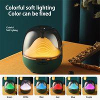 Electric Humidifier Essential Aroma Oil Diffuser Ultrasonic Wood Grain Air USB Mini Mist Maker LED Light Humidifiers